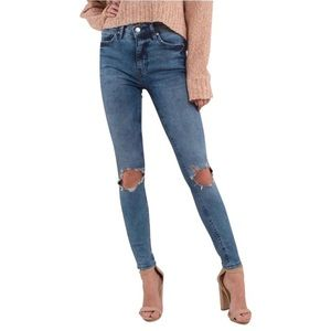 Free People High rise Busted Knee Skinny Jeans 29R